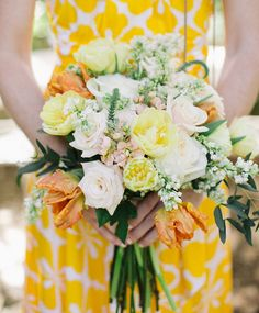 gorgeous yellow and orange bouquet