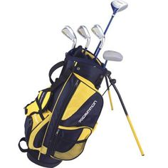 Prosimmon Icon Junior Golf Club Set & Stand Bag for kids ages 8-12 RH and see more Golf Clubs For Kids at http://pinterest.com/sulias/golf-clubs-for-kids/
