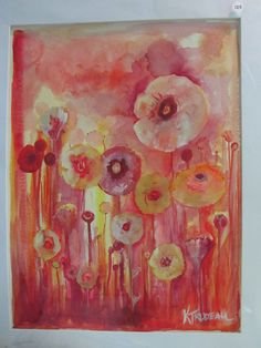 Poppies at Sunset by ArtbyKTrudeau on Etsy, $125.00