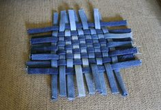 Bias fold weaving with denim