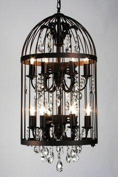 Bird Cage Chandelier - Black on HauteLook $599