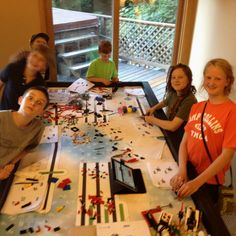 Setting up missions on Lego robotics table