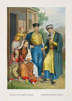 Crimean Tatars in traditional costumes
