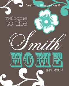 Custom Home Sweet Home Sign for Your House by Freshline on Etsy, $24.95