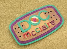 Handmade Doc McStuffins Name Tag