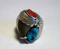 Genuine Bear Claw Ring Navajo Sterling by eaglemountaindesigns, $74.99
