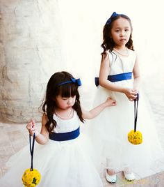 flower girls with kissing balls