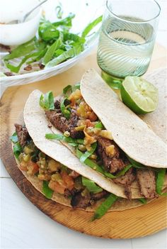 Spicy Steak Tacos | bevcooks.com