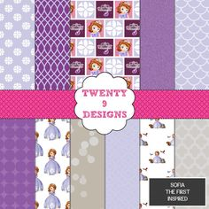 Sofia The First Inspired Pack  INSTANT DOWNLOAD by Twenty9Designs, $5.00