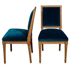 peacock blue chairs