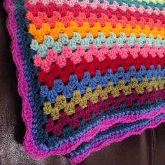 Colorful #crochet blanket from @DorsetFinca