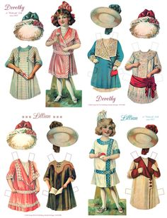 Dorothy & Lillian, 1915 Woolworth paper dolls