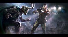 The Avengers- Iron Man vs. Loki