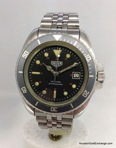 Rare Heuer Ref 844 Divers Watch Prototype. French version Circa 1979 #divers #watches #TagHeuer #rare