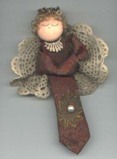 necktie angel made from Grandpa's old ties