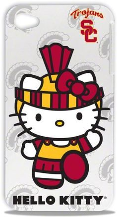 I find this rather necessary. $19.48. H/T @Claire Curry | #USC #Trojans Hello Kitty #iPhone 4/4S Hard Shell Case by Tribeca, http://www.amazon.com/dp/B008PCI50C/ref=cm_sw_r_pi_dp_oQb.qb1D5GV6H