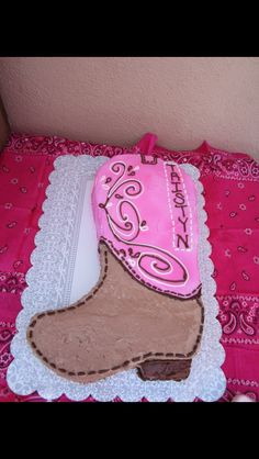 Cowgirl Boot Cake