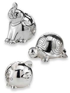 Banks- Piggy Bank, Elephant Bank & Turtle Bank on Etsy, $175.00