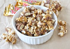 Twix Caramel Popcorn Recipe - perfect homemade gift!