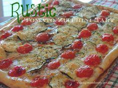 Rust Tomato Zucchini Tart #projectinspired #feature