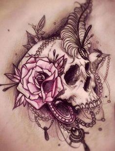 tattoo idea, skulls, skulldesignjpg 400528, beauti tattoo, drawings, skull couple tattoo, skull draw, fanci skull, big tattoo