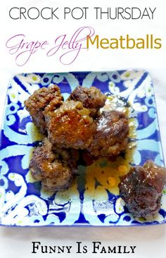 Crock Pot Grape Jelly Meatballs that will make you the most popular guest at the party! #slowcooker #appetizers