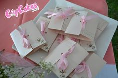 Favors at a Pink Baptism Party #pink #baptism