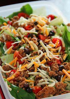 Turkey Taco Salad With Spicy Avocado Dressing