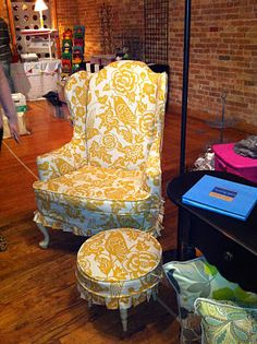 Slipcovers... wingback chairs