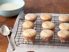 Paula Deen's Lemon Blossoms-- basically glazed lemon cupcakes...yummy dessert.