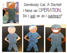 The Teacher's Chair: Somebody Call A Doctor...I Need an Operation!   great for use with determining operation in math problems