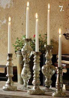 Mercury Glass Candle Sticks - FOUND. Pottery Barn @Oakbrook Mall