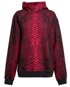 Christopher Kane Snakeskin Print Cotton Sweatshirt