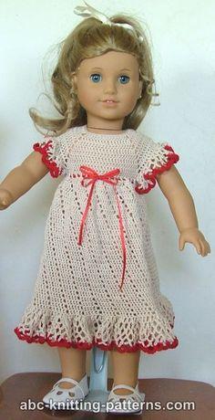 Free crochet pattern for American Girl Doll