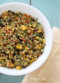 Southwestern Black Bean, Quinoa and Mango Medley   Skinnytaste