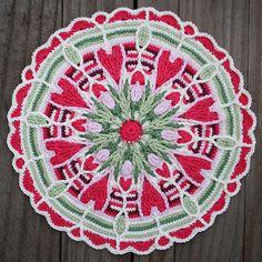 Crochet Overlay Mandala  No. 4 Pattern PDF by CAROcreated on Etsy, €5.50