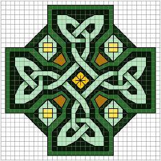 celtic knot wheel cross