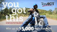TaxACT is giving away $30,000 in cash and prizes and I think one of us could win! Enter now! #YouGotThis