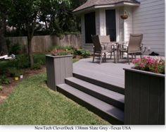 Deck idea: close in corners with planters