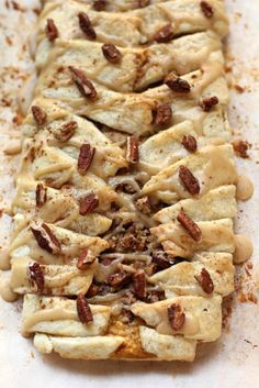 Pumpkin Pecan Streusel Breakfast Braid with Maple Brown Sugar Glaze