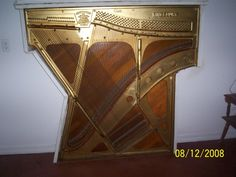 A piano harp as wall art!