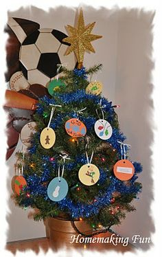 christmas time, kids christmas, kid bedrooms, paper ornaments, servic project