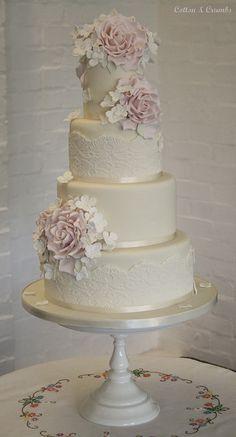 Vintage Wedding Cake #wedding, #weddings, https://facebook.com/apps/application.php?id=106186096099420