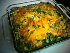 Breakfast Casserole (With Chard if you Want) - i do it with fake sausage crumbles and its AWESOME.