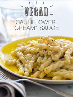 Vegan Cauliflower Cream Sauce   Vegan recipe   Spoon Fork Bacon