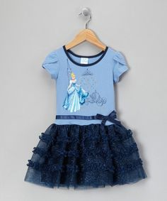 Take a look at this Midnight Cinderella Sparkle Dress - Toddler & Girls by Disney Princesses: Frilly Apparel on @zulily today!