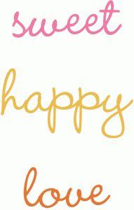Silhouette Online Store: sweet, happy & love