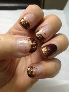 Fall Nail Ideas...I would do every finger like the ring finger