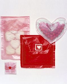 See-Through Valentines  Wrap sweet treats in festive packaging for a perfect Valentine's Day surprise