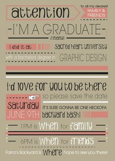 a graduation party invitation